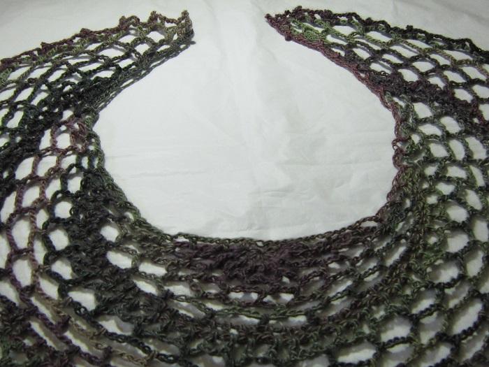 crochet, shawl, Partriot Day, rants