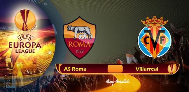 نتيجة مباراة روما وفياريال 4-0 اليوم 16-2-2017 بالدوري الإوروبي