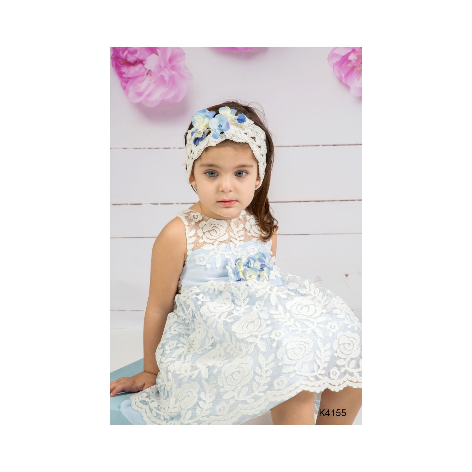 Lace baptismal clothes for girls K4155