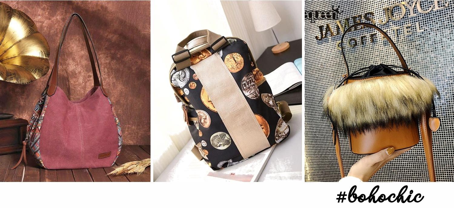three trendy bohemian bags
