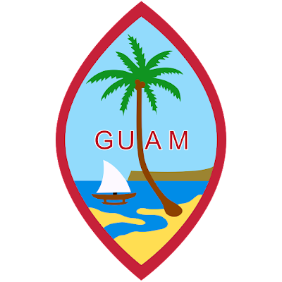 Coat of arms - Flags - Emblem - Logo Gambar Lambang, Simbol, Bendera Negara Guam