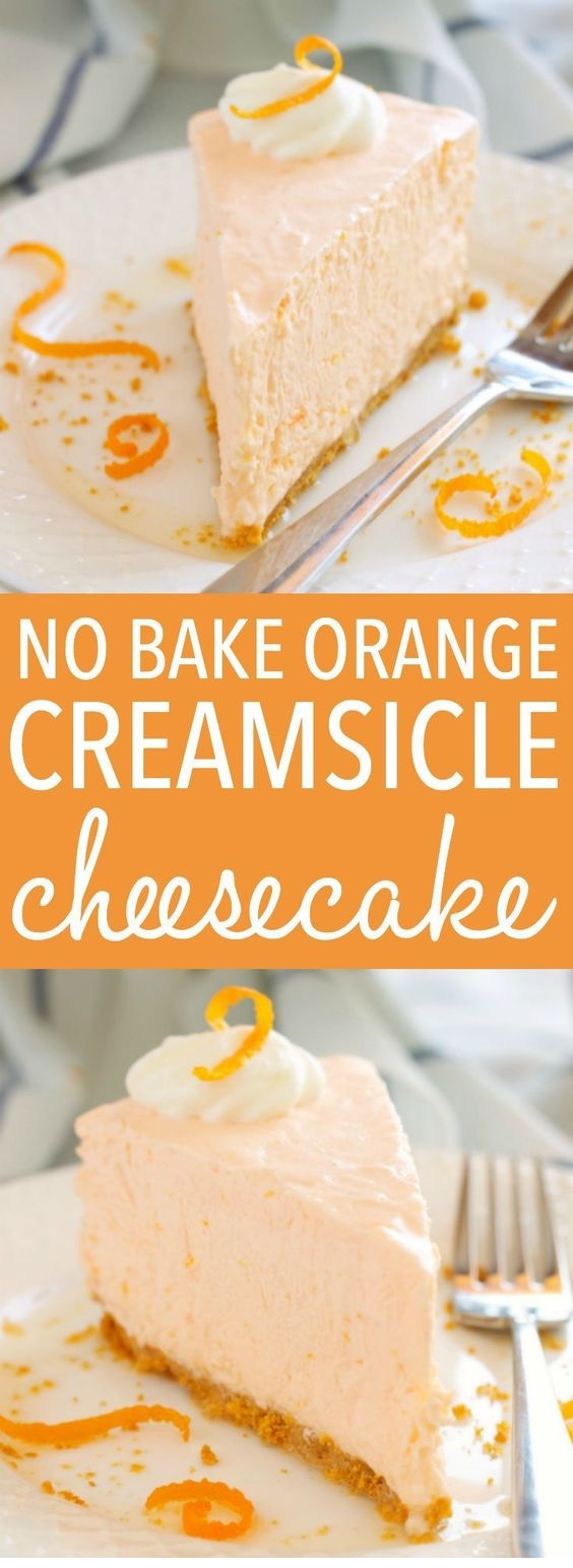No Bake Orange Creamsicle Cheesecake