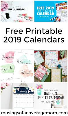 2019 calendars to print