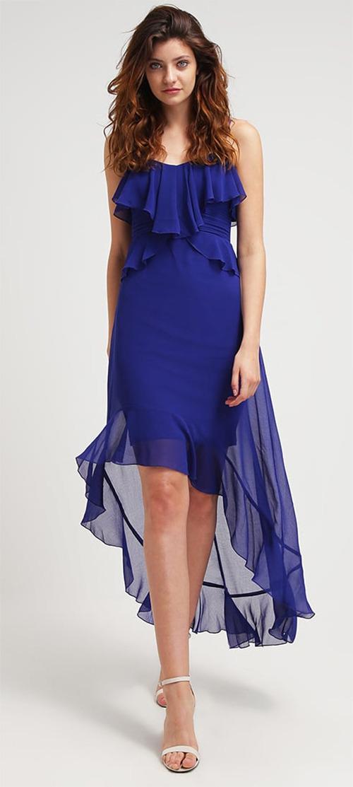 Robe longue de soirée bleu roi Lipsy London