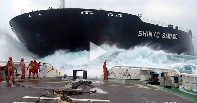 Satisfying videos of how huge ships are launched into the sea