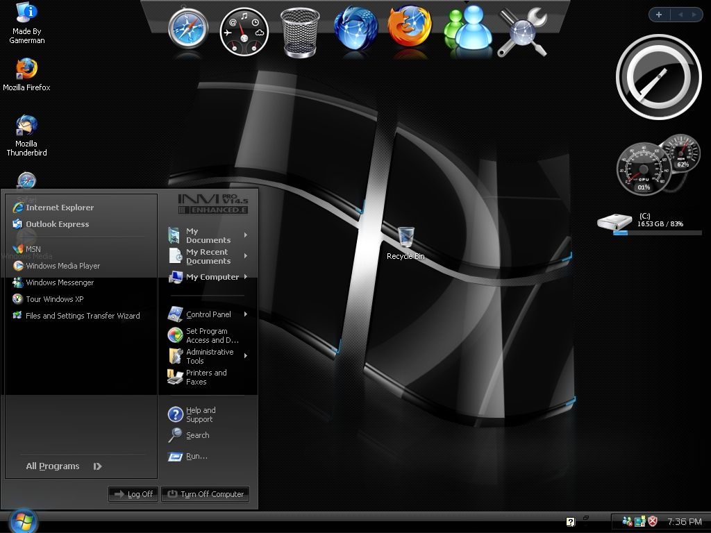 Windows 7 theme black seven (red) by tono3022 on deviantart, red.