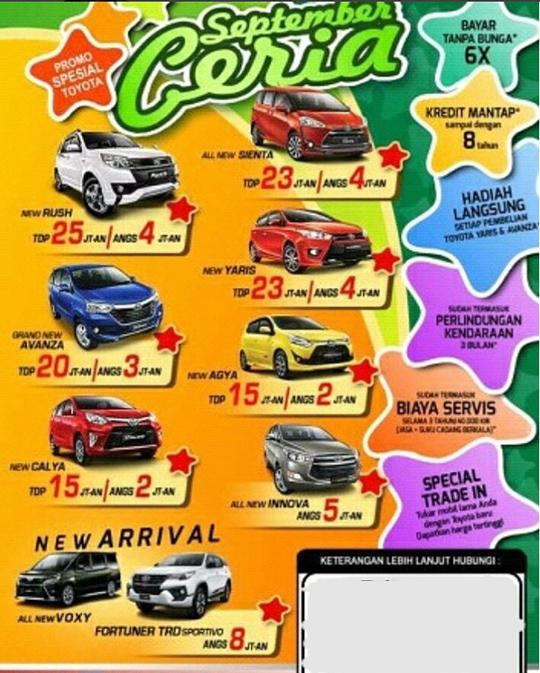 Promo Toyota Tigaraksa Tangerang