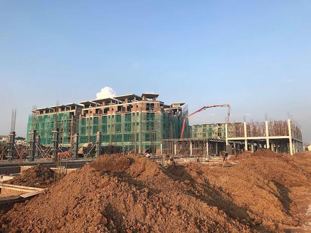Tiến độ dự án Shophouse Khai Sơn City - Town 6-7