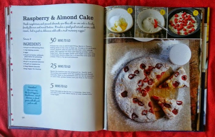 On The Table In 30 Minutes Recipe Cookbook Review Raspberry cake page