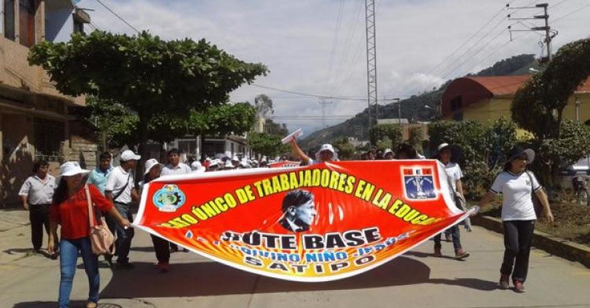 Maestros de zonas rurales de Satipo no acatan huelga del SUTEP Junín