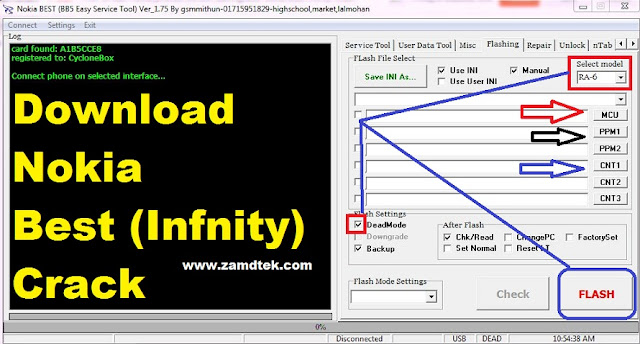 How to download and use Nokia best infinity crack for flashing.