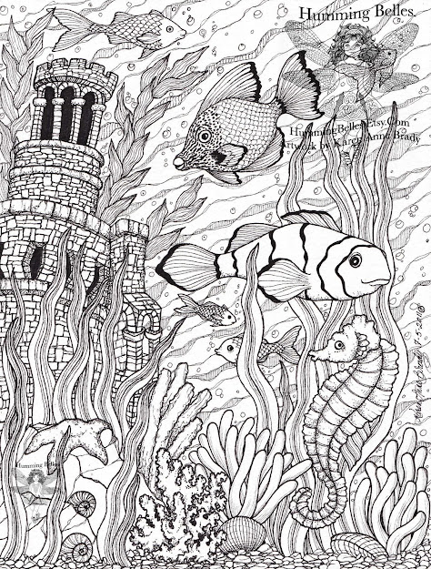 Intricate Coloring Pages For Adults   Humming Belles