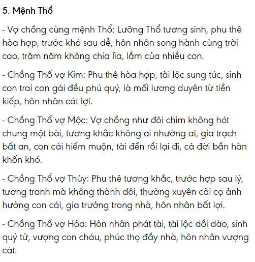 Menh Tho