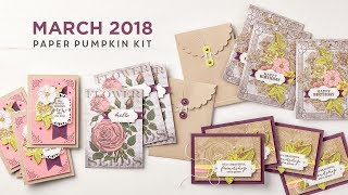 Paper Pumpkin March 2018 Stampin Up MidnightCrafting