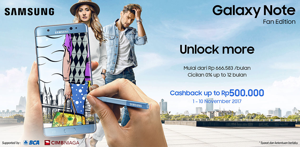Promo Launching Samsung Galaxy Note FE (Fan Edition) di Indonesia