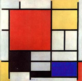 Piet Mondrian - Composición en rojo, amarillo, azul y negro (1926)