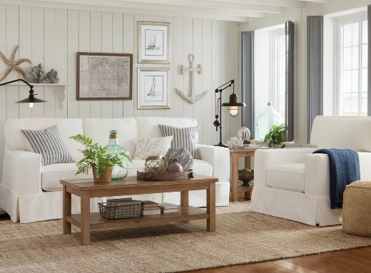 16 Neutral Coastal Living Room Designs & Decor Ideas
