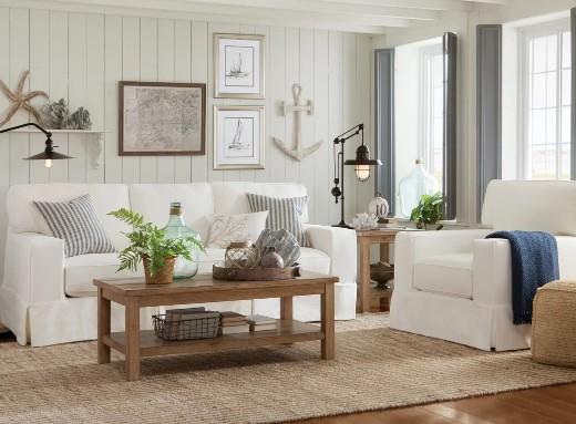 16 Neutral Coastal Living Room Designs & Decor Ideas