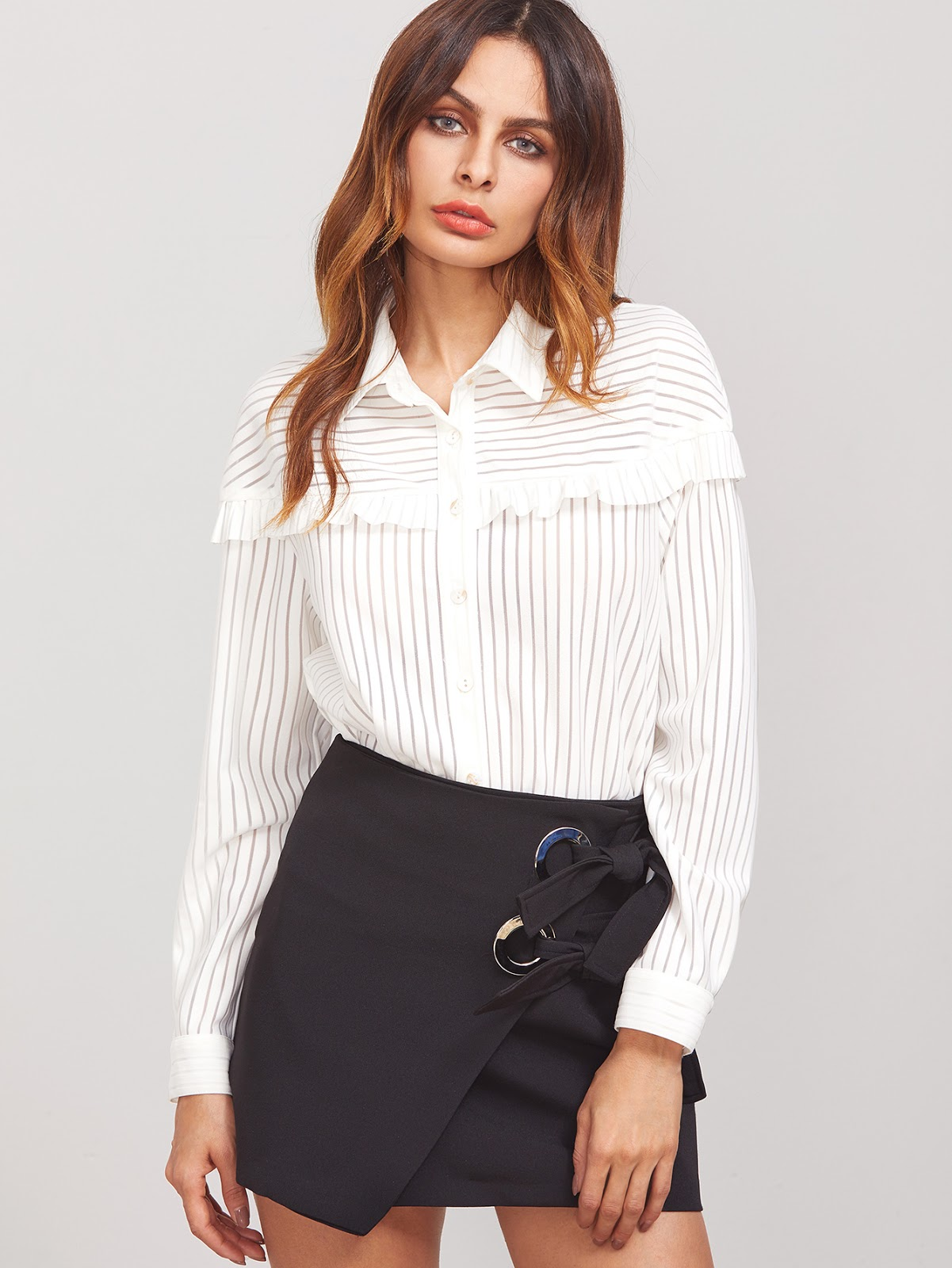 cheap ruffle blouses