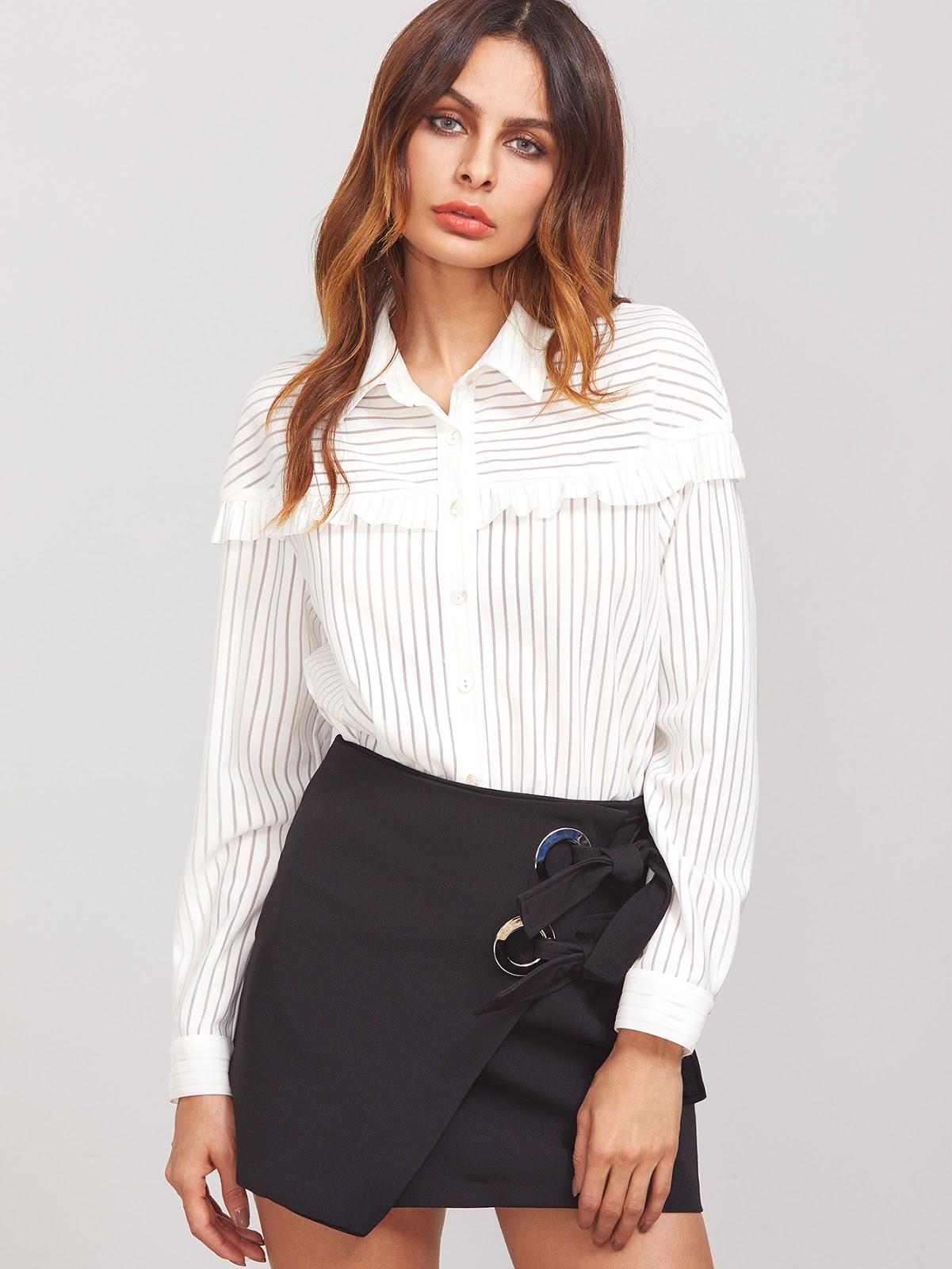 cheap ruffle blouses