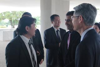 Adier Pires do PSL de Registro-SP em Reunião com Presidente Bolsonaro e Comitiva Coreana