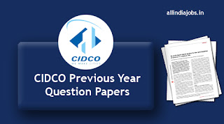 CIDCO Previous Year Question Papers