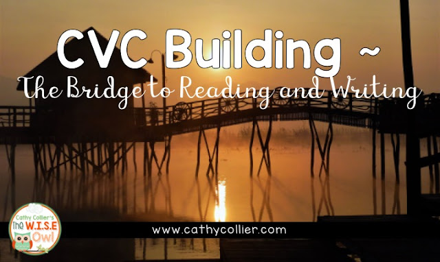 CVC Building helps students build a bridge to reading and writing.