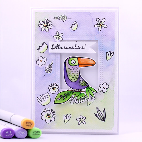 Birds of Paradise stamp set and Die-namics and Blissful Blooms stamp set - Arte Banale #mftstamps