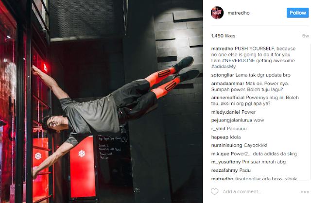 Redha Rozlan's #NeverDone Instagram post
