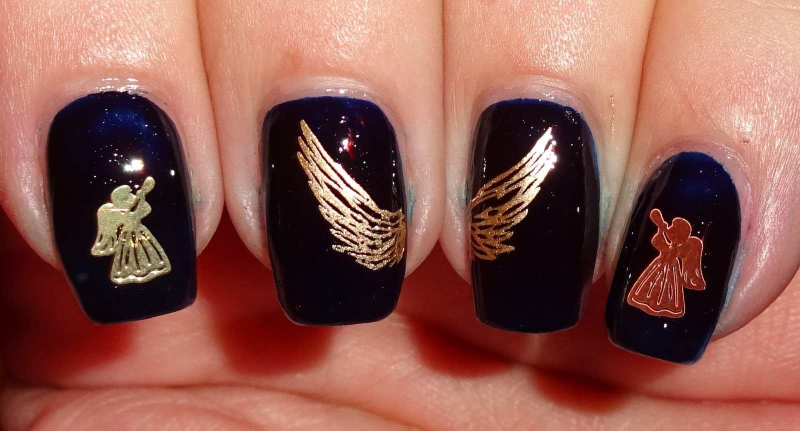 Wendy39s Delights Gold Guardian Angel Metallic Nail Charms