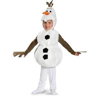 Olaf pupazzo di neve principessa anna elsa frozen costume maschera travestimento cosplay bambini misura taglia età 3 anni