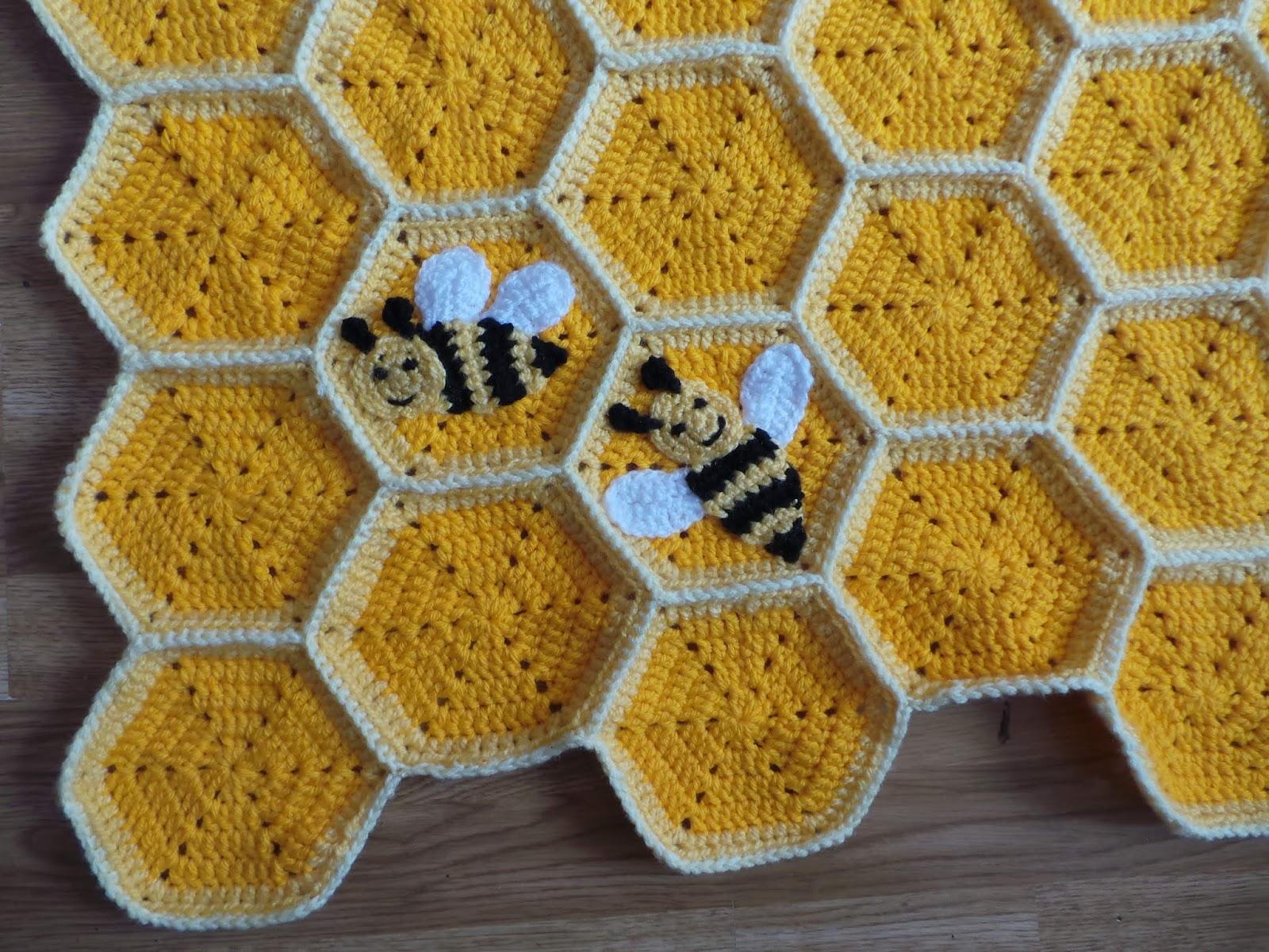 Crochet Pattern Bee Happy Honeycomb Baby Blanket Crafting Happiness