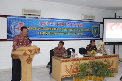 Biro Hukum Pemprov Dorong Kabupaten/Kota Integrasikan Informasi Produk Hukum