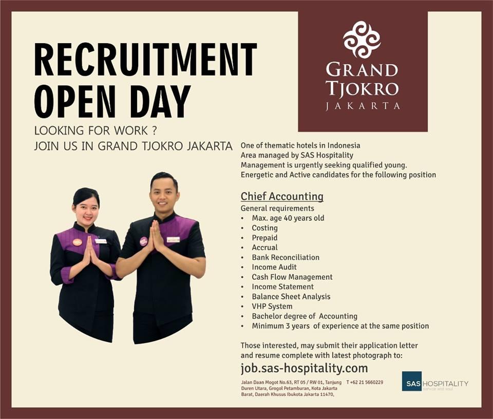 Grand Tjokro Jakarta Jobs News 2018 Archived Hotelier Indonesia