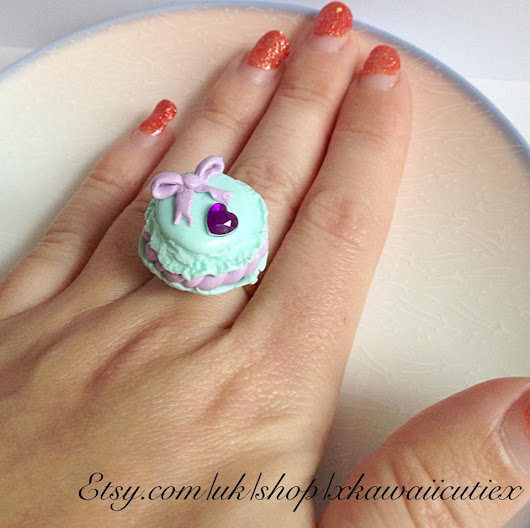 New 'Sweet Enough' Handmade Macaron Ring