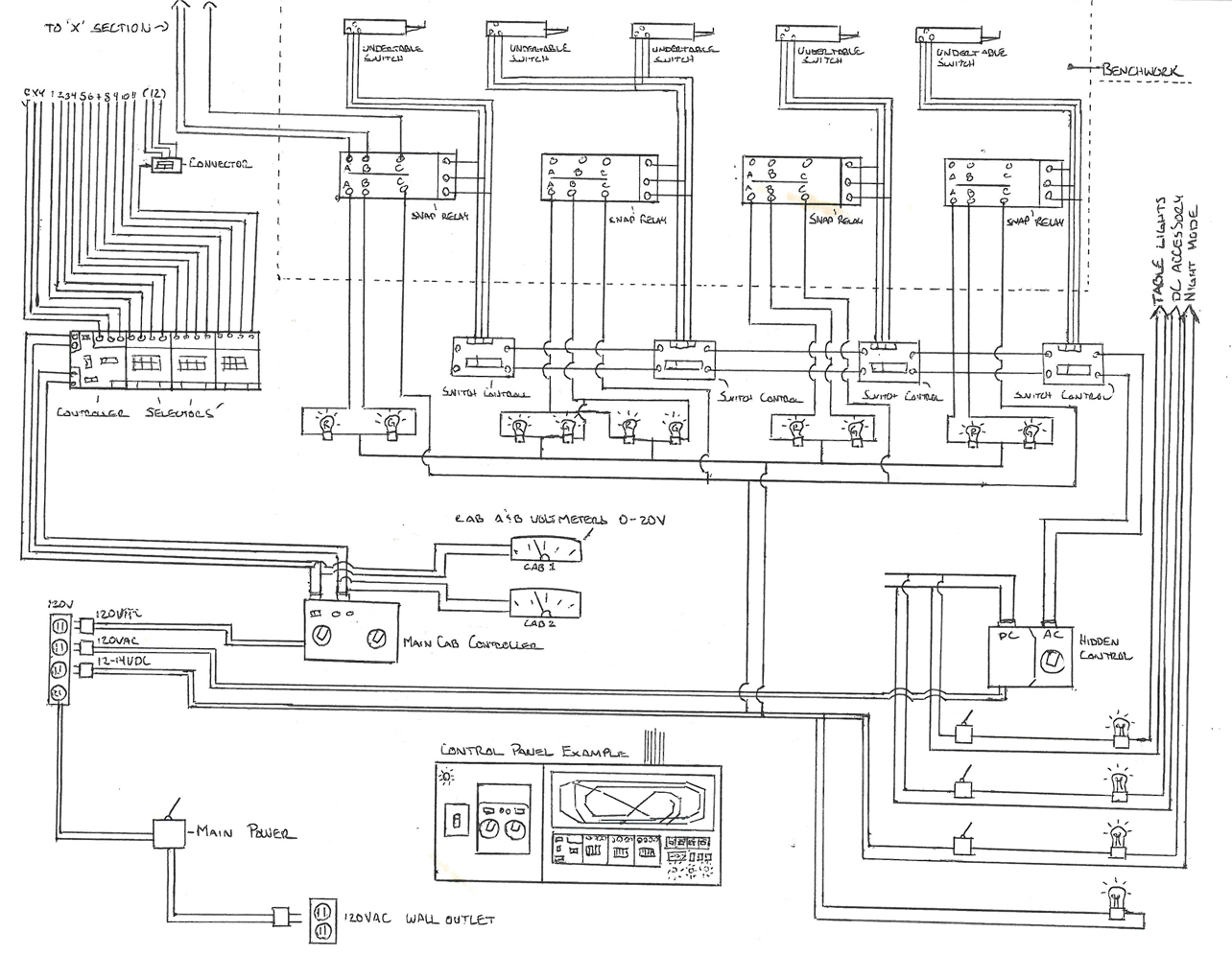 relay and switch machine control wiring diagram for trackside lights