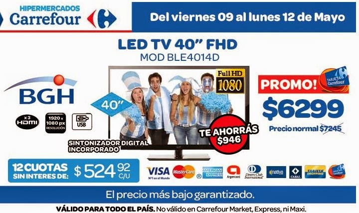 tecno promos argentina promo carrefour led tv bgh. Black Bedroom Furniture Sets. Home Design Ideas