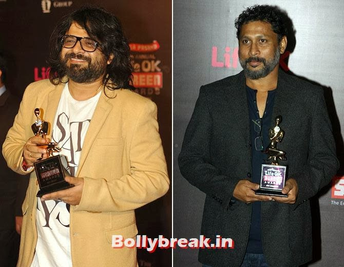Pritam and Shoojit Sircar, Life Ok Screen Awards 2014 Red Carpet Photos