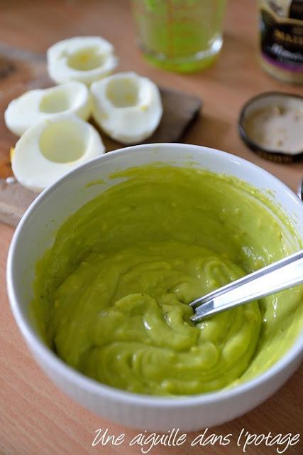 mayonnaise verte au vert de poireaux