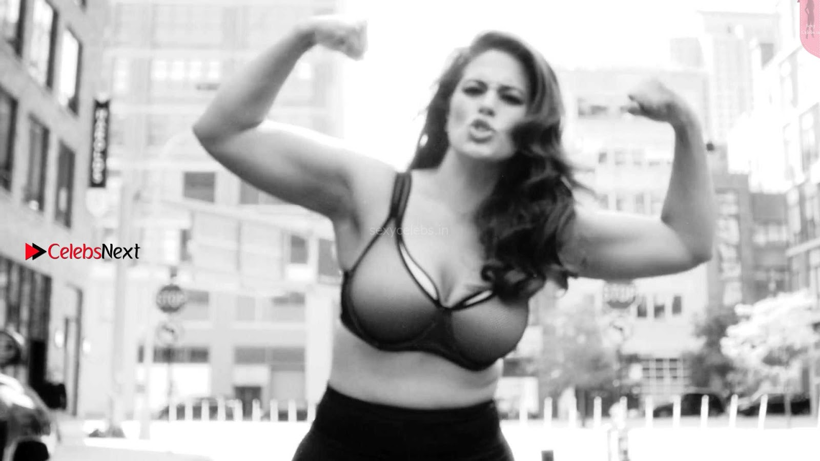 Ashley Graham exposing her Cleavages ass closeups for LOVE ADVENT photoshoot