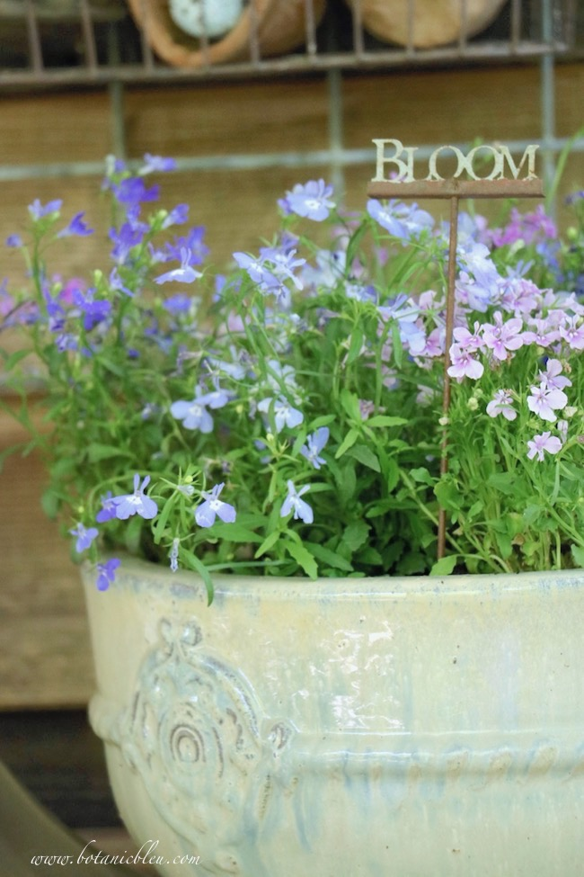 spring tour of gardener's potting bench French style pots