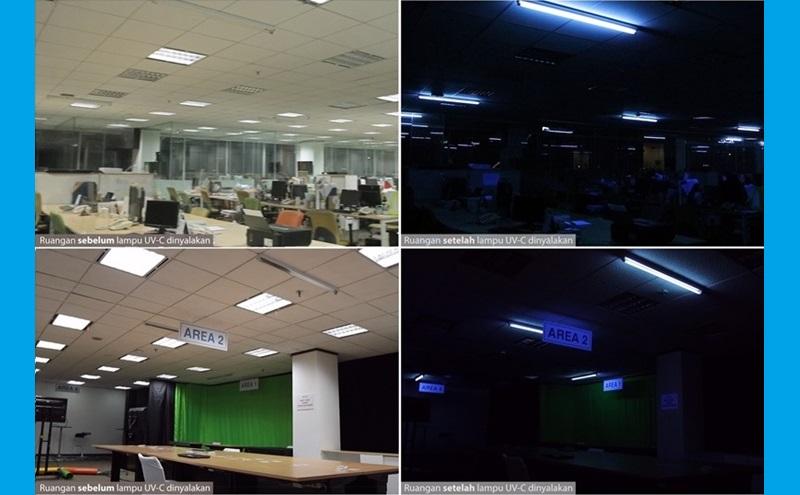 Penerapan teknologi UV-C Signify di kantor