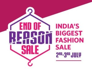 Myntra End Of Reason Sale Loot - upto 80% Discount + 10% Cashback On 2nd - 3rd July 2016