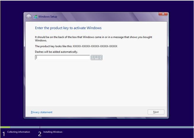 Windows 8 installation Step by Step tutorial