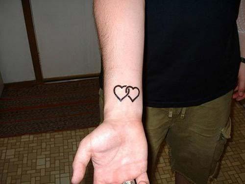 ikili kalp bilek dövmesi two heart wrist tattoo