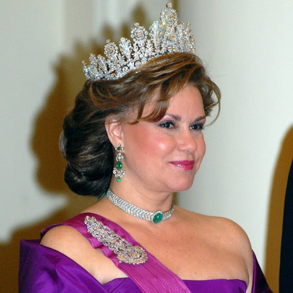 Luxembourg's Grand Duchess Maria Teresa celebrates her 60th birthday on Tuesday. Maria Teresa, Grand Duchess of Luxembourg, diamond, tiara, earrings, diamond baracelet, diamond, rings, jewelery, wedding dress
