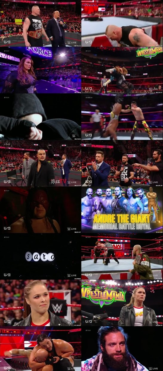 WWE Monday Night Raw 26th March 2018 720p 1.1GB HDTVRip