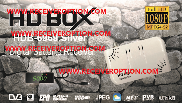 HD BOX HDB-6969 SILVER RECEIVER POWERVU KEY NEW SOFTWARE
