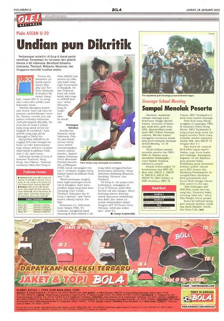 PIALA ASEAN U-20 UNDIAN PUN DIKRITIK