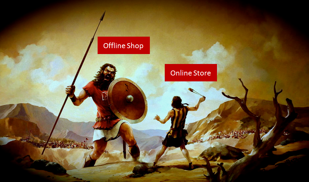 David vs Goliath: Online vs Offline store